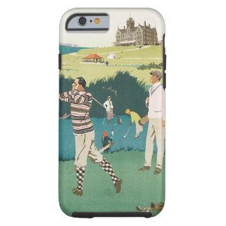 Vintage Sports Golf in Scotland, Golfers Golfing Tough iPhone 6 Case