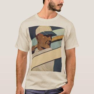 Vintage Sports, Stylized Baseball Player Batter T-Shirt