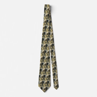 Vintage Sports, Stylized Baseball Players Game Tie