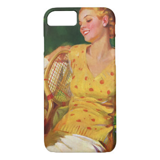 Vintage Sports Tennis, Love and Romance iPhone 8/7 Case