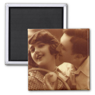 Vintage Sports Tennis, Love and Romance Magnet