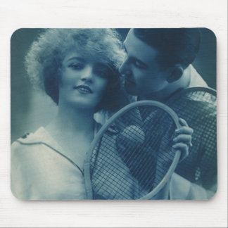 Vintage Sports Tennis, Love and Romance Mouse Pad