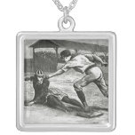 Vintage Sports, Victorian Women's Baseball Teams Personalized Necklace