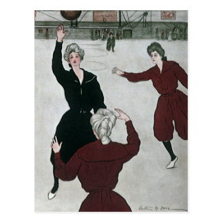Vintage Sports Women s Basketball Game Players Post Cards