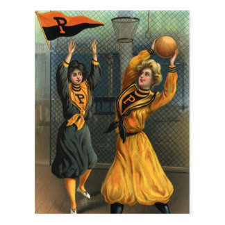 Vintage Sports Women s Basketball Teams Postcards