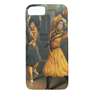 Vintage Sports, Women Team Playing Basketball Game iPhone 7 Case