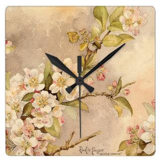 Vintage Spring Blossoms Clock