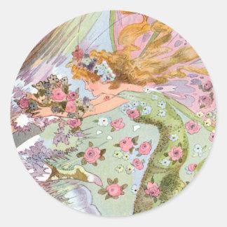 Vintage Spring Faerie Sticker