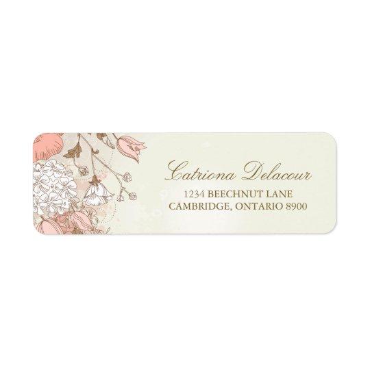 Vintage Spring Floral Wedding Return Address Label