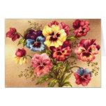 Vintage Spring Flowers Greeting Card