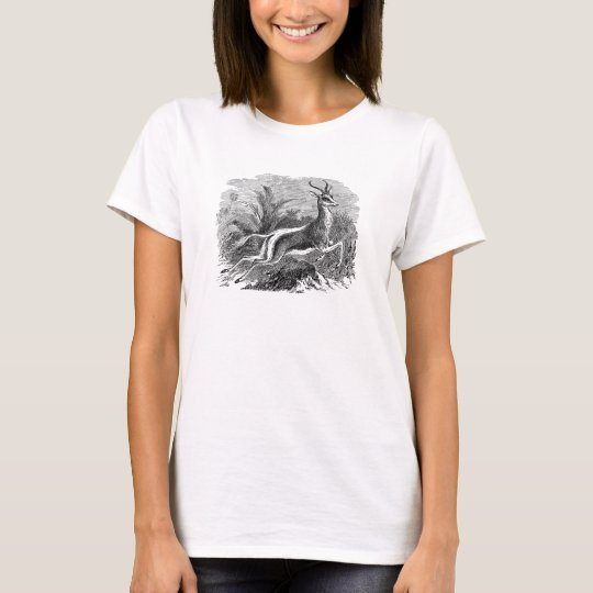 Vintage Springbok Antelope Gazelle Personalised T-Shirt
