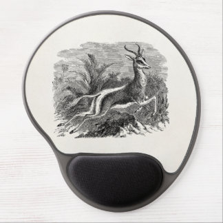 Vintage Springbok Antelope Gazelle Personalized Gel Mouse Pad