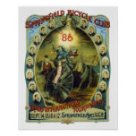 Vintage Springfield Bicycle Club Advertisement Poster