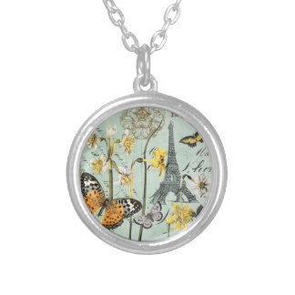 Vintage Springtime in Paris charm necklace