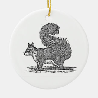 Vintage Squirrel Illustration -1800's Squirrels Christmas Ornament