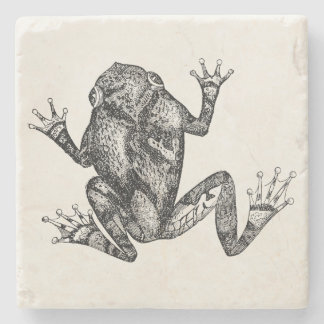 Vintage Squirrel Tree Toad - Reptile Frog Template Stone Coaster