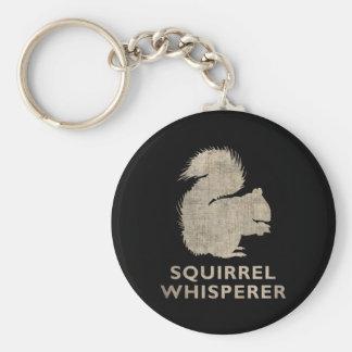 Vintage Squirrel Whisperer Basic Round Button Key Ring