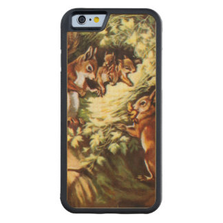 Vintage Squirrels Carved® Maple iPhone 6 Bumper
