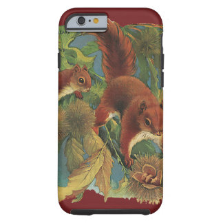 Vintage Squirrels, Wild Animals, Forest Creatures Tough iPhone 6 Case