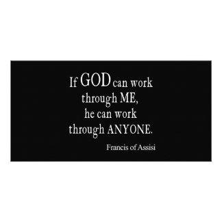 Vintage St. Francis of Assisi God Religious Quote Photo Greeting Card