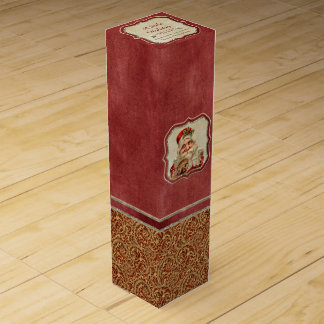 Vintage St. Nicholas Ho Ho Ho Christmas Gift Box