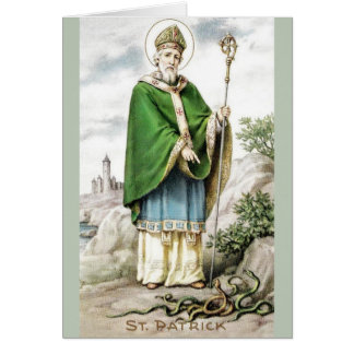 Vintage St. Patrick and Snakes Greeting Card