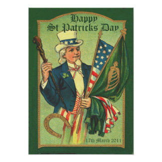 Vintage St Patrick s Day Poster