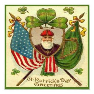 Vintage St Patricks Day 10 Greeting Card 13 Cm X 13 Cm Square Invitation Card