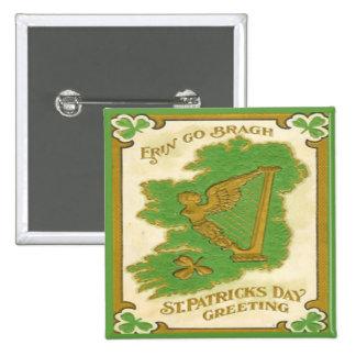 Vintage St Patricks Day 38 15 Cm Square Badge