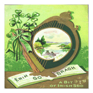 Vintage St Patricks Day 3 Greeting Card 13 Cm X 13 Cm Square Invitation Card