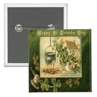 Vintage St Patricks Day 6 Buttons