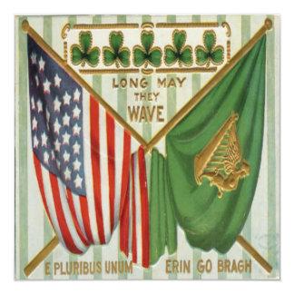 Vintage St Patricks Day 9 Greeting Card 13 Cm X 13 Cm Square Invitation Card