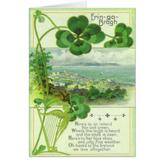 Vintage St Patricks Day Greeting Card No 17