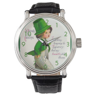 Vintage St. Patrick's Day Greeting Watches