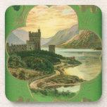 Vintage St. Patricks Day Greetings Castle Shamrock