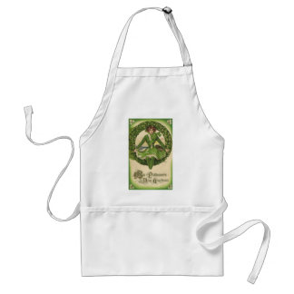 Vintage St. Patrick's Day Greetings, Clover Lassy Aprons