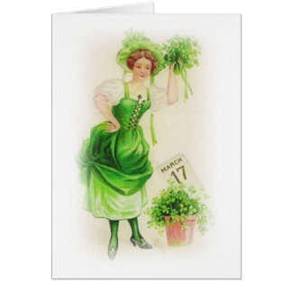 Vintage St. Patricks Day March 17 Greeting Card