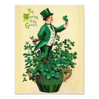 Vintage St. Patrick's Day Party Invitations! 11 Cm X 14 Cm Invitation Card