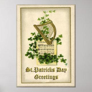 Vintage St Patrick's Day Poster