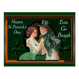 VINTAGE ST. PATRICK'S DAY SHADOW BOX POSTCARD