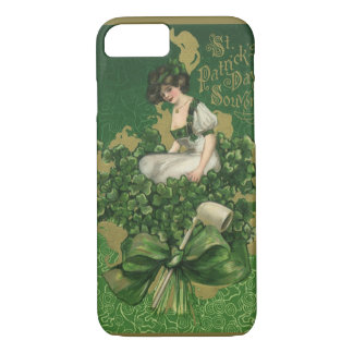 Vintage St. Patrick's Day Souvenir, Irish Lass iPhone 7 Case