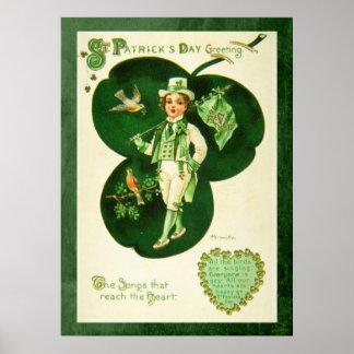 Vintage St Patrick's Greeting Poster
