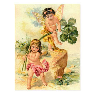 Vintage St. Patrick's Irish Faeries Postcard