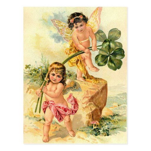 Vintage St. Patrick's Irish Faeries Postcard