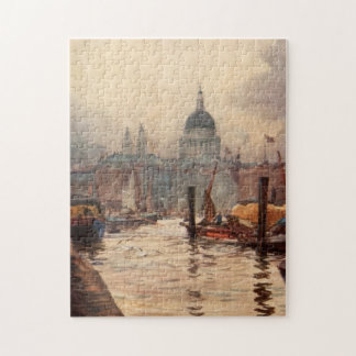 Vintage St. Paul's Cathedral Thames London England Puzzle