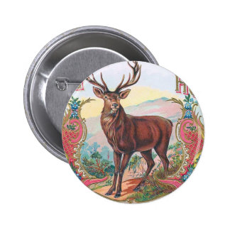 Vintage Stag Pinback Buttons