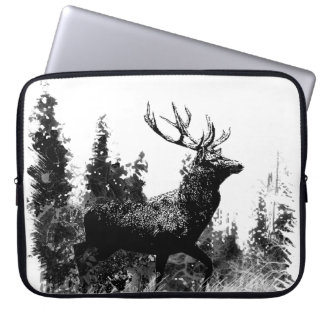 Vintage Stag Deer Design Laptop Computer Sleeves