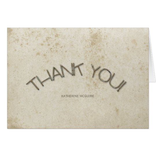Vintage Stained Paper Thank You Cards