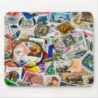 Vintage Stamp Collection Mouse Mat