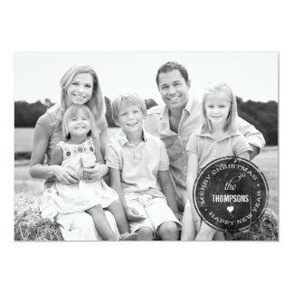 VINTAGE STAMP Holiday Photo Cards 13 Cm X 18 Cm Invitation Card